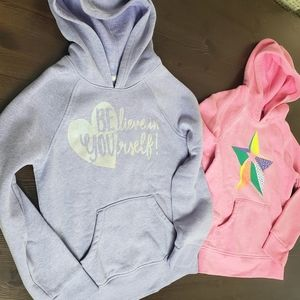 Cat & Jack Girls hoodie sz 7/8 pink & purple